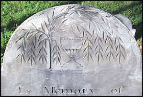 Willow and Urn on Headstone (Gravestone).